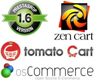 tiendas online prestashop zen cart tomato cart oscommerce
